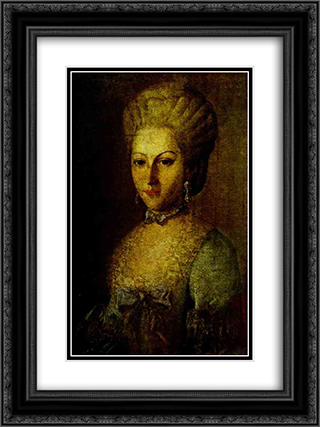 Portrait of Agrafena Ribeaupierre 18x24 Black or Gold Ornate Framed and Double Matted Art Print by Carl Ludwig Johann Christineck