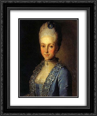 Portrait of Alexandra Perfilyeva, nee Countess Tolstaya 20x24 Black or Gold Ornate Framed and Double Matted Art Print by Carl Ludwig Johann Christineck