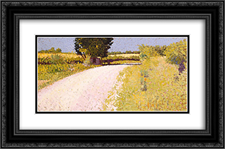 Path in the Country 24x16 Black or Gold Ornate Framed and Double Matted Art Print by Charles Angrand