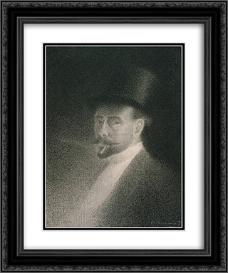 Self-Portrait 20x24 Black or Gold Ornate Framed and Double Matted Art Print by Charles Angrand