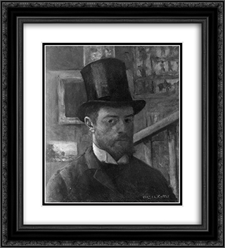 Self-Portrait 20x22 Black or Gold Ornate Framed and Double Matted Art Print by Charles Cottet