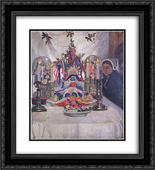 The child death 20x22 Black or Gold Ornate Framed and Double Matted Art Print by Charles Cottet