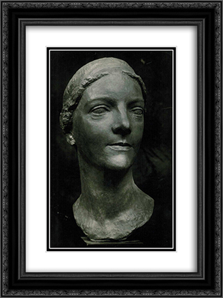 Agnes Meyer 18x24 Black or Gold Ornate Framed and Double Matted Art Print by Charles Despiau
