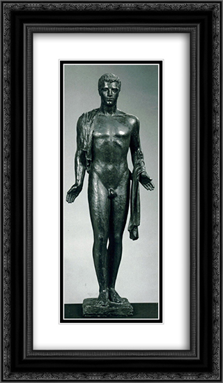 Apollon 14x24 Black or Gold Ornate Framed and Double Matted Art Print by Charles Despiau