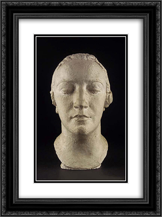 Mme Derain 18x24 Black or Gold Ornate Framed and Double Matted Art Print by Charles Despiau