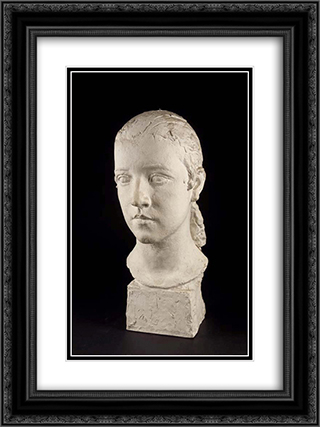 Nenette 18x24 Black or Gold Ornate Framed and Double Matted Art Print by Charles Despiau