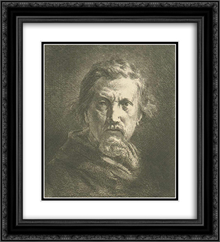 Self-portrait 20x22 Black or Gold Ornate Framed and Double Matted Art Print by Charles Jacque