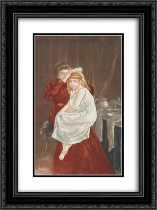 Le ruban de coiffure 18x24 Black or Gold Ornate Framed and Double Matted Art Print by Charles Maurin