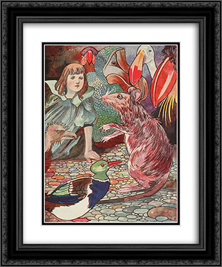 Ahem - said the mouse with an important air 20x24 Black or Gold Ornate Framed and Double Matted Art Print by Charles Robinson