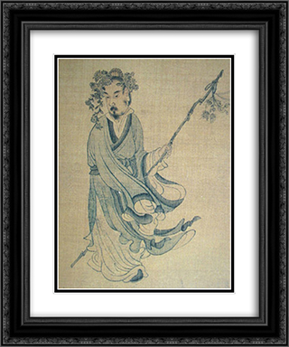 Portrait of T'ao Ch'ien 20x24 Black or Gold Ornate Framed and Double Matted Art Print by Chen Hongshou