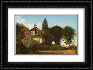 A Mansion near oresund 24x18 Black or Gold Ornate Framed and Double Matted Art Print by Christen Kobke