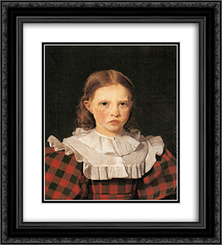 Portrait of Adolphine Kobke, Sister of the Artist 20x22 Black or Gold Ornate Framed and Double Matted Art Print by Christen Kobke