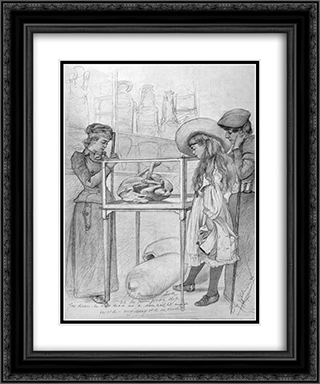 (La bella Napoli) Oh the poor poor dog 20x24 Black or Gold Ornate Framed and Double Matted Art Print by Christian Wilhelm Allers