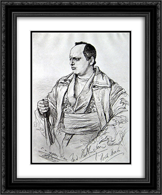 Actor Fred Billington 20x24 Black or Gold Ornate Framed and Double Matted Art Print by Christian Wilhelm Allers