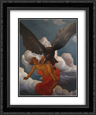 Ganymede 20x24 Black or Gold Ornate Framed and Double Matted Art Print by Christian Wilhelm Allers