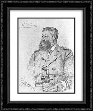 Portrait of Carl-August Deinhard 20x24 Black or Gold Ornate Framed and Double Matted Art Print by Christian Wilhelm Allers