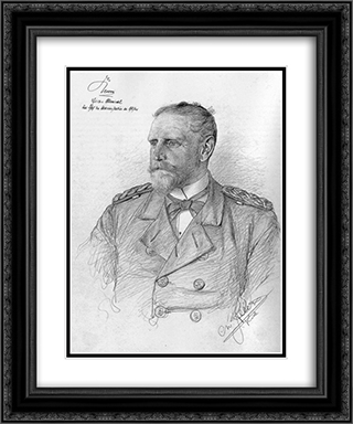 Portrait of Eduard von Knorr 20x24 Black or Gold Ornate Framed and Double Matted Art Print by Christian Wilhelm Allers