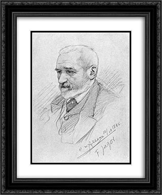 Portrait of Fedor Jagor 20x24 Black or Gold Ornate Framed and Double Matted Art Print by Christian Wilhelm Allers