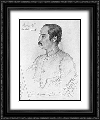 Portrait of Phra Maha Chulalongkorn (Rama V.), King of Siam 20x24 Black or Gold Ornate Framed and Double Matted Art Print by Christian Wilhelm Allers