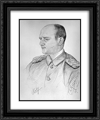 Portrait of Wilhelm Solf 20x24 Black or Gold Ornate Framed and Double Matted Art Print by Christian Wilhelm Allers