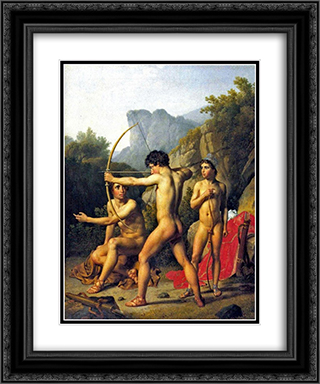 Three Spartan Boys 20x24 Black or Gold Ornate Framed and Double Matted Art Print by Christoffer Wilhelm Eckersberg