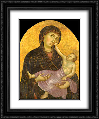 Madonna with Child 20x24 Black or Gold Ornate Framed and Double Matted Art Print by Cimabue