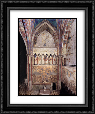 View of the frescoes in the left transept 20x24 Black or Gold Ornate Framed and Double Matted Art Print by Cimabue