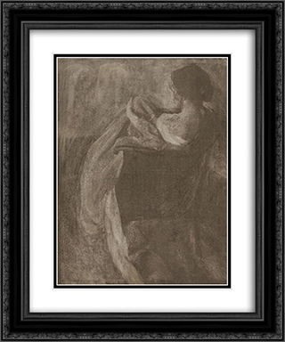 A Study in Gum 20x24 Black or Gold Ornate Framed and Double Matted Art Print by Clarence White