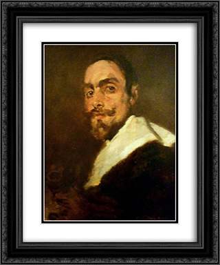 Retrato do Professor Joo Barreira 20x24 Black or Gold Ornate Framed and Double Matted Art Print by Columbano Bordalo Pinheiro