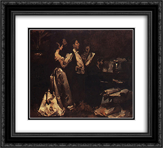 Um Concerto de Amadores 22x20 Black or Gold Ornate Framed and Double Matted Art Print by Columbano Bordalo Pinheiro