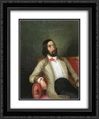 C. A. Rosetti 20x24 Black or Gold Ornate Framed and Double Matted Art Print by Constantin Daniel Rosenthal