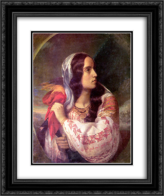 Revolutionary Romania 20x24 Black or Gold Ornate Framed and Double Matted Art Print by Constantin Daniel Rosenthal