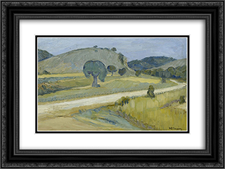 Attica Landscape 24x18 Black or Gold Ornate Framed and Double Matted Art Print by Constantine Maleas