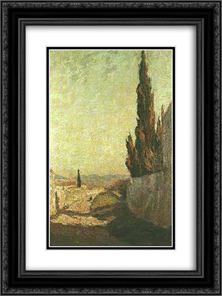 Cypress 18x24 Black or Gold Ornate Framed and Double Matted Art Print by Constantine Maleas