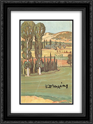 Landscape 18x24 Black or Gold Ornate Framed and Double Matted Art Print by Constantine Maleas