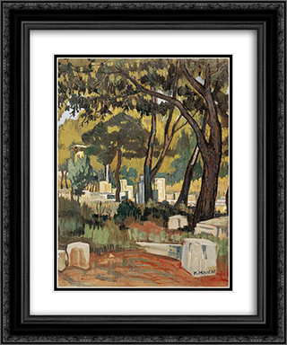 Olympia 20x24 Black or Gold Ornate Framed and Double Matted Art Print by Constantine Maleas