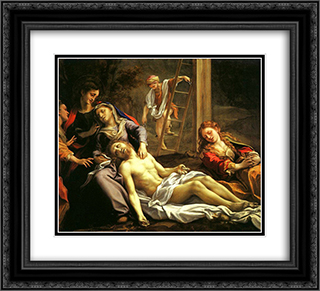 Deposition 22x20 Black or Gold Ornate Framed and Double Matted Art Print by Correggio
