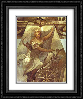 Diana 20x24 Black or Gold Ornate Framed and Double Matted Art Print by Correggio