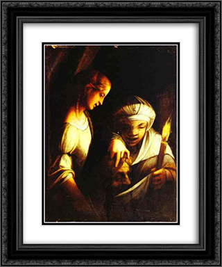 Judith 20x24 Black or Gold Ornate Framed and Double Matted Art Print by Correggio
