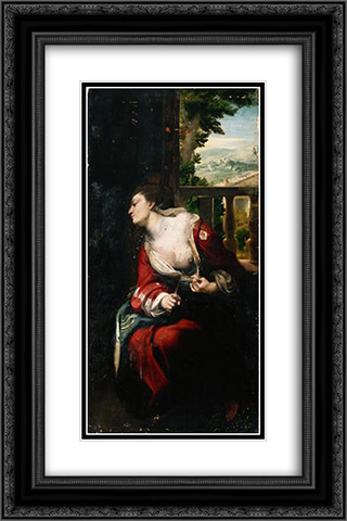 Lucretia 16x24 Black or Gold Ornate Framed and Double Matted Art Print by Correggio