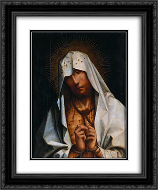 Ecce Homo 20x24 Black or Gold Ornate Framed and Double Matted Art Print by Cristovao de Figueiredo
