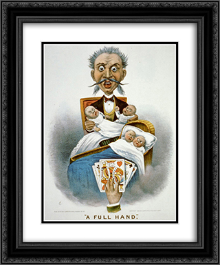 A full hand 20x24 Black or Gold Ornate Framed and Double Matted Art Print by Currier and Ives