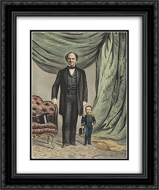 Barnum and Nutt 20x24 Black or Gold Ornate Framed and Double Matted Art Print by Currier and Ives