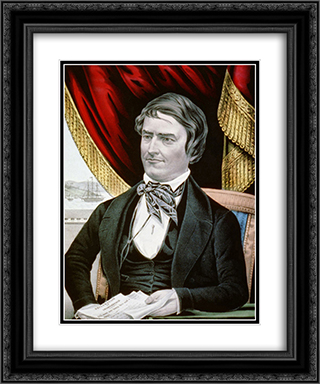Cassius Marcellus Clay, abolitionist from Kentucky 20x24 Black or Gold Ornate Framed and Double Matted Art Print by Currier and Ives