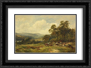 Above Rydal Mount, Ambleside 24x18 Black or Gold Ornate Framed and Double Matted Art Print by David Bates