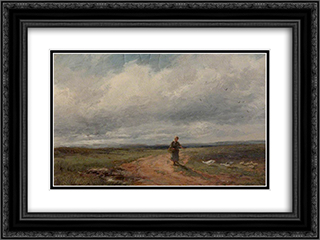 Broadheath Common 24x18 Black or Gold Ornate Framed and Double Matted Art Print by David Bates