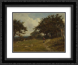 Colwell, near Malvern, Worcestershire 24x20 Black or Gold Ornate Framed and Double Matted Art Print by David Bates