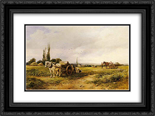 In the mangel field 24x18 Black or Gold Ornate Framed and Double Matted Art Print by David Bates