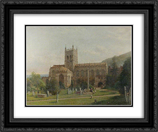 Malvern Priory, Worcestershire 24x20 Black or Gold Ornate Framed and Double Matted Art Print by David Bates