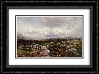 Near Festiniog 24x18 Black or Gold Ornate Framed and Double Matted Art Print by David Bates